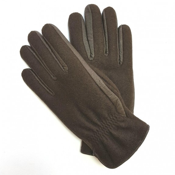 "Leather gloves of peccary and alpaca ""MOYRA"""