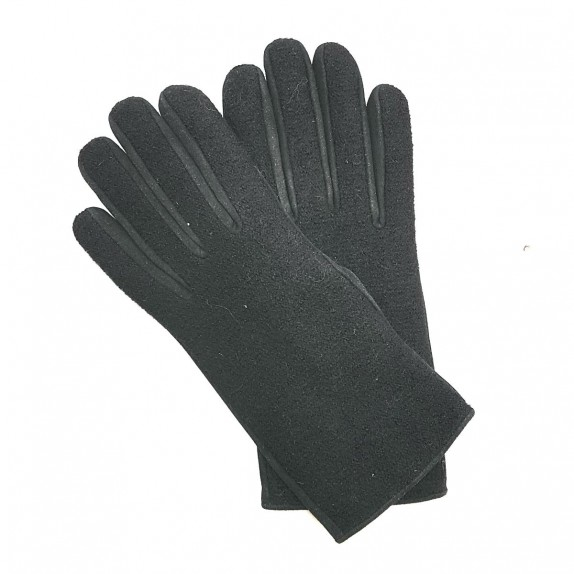"""Leather gloves of peccary and alpaca brown """"MOYRA""""."""