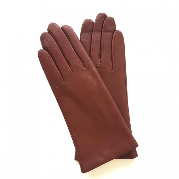 "Gants en cuir d'agneau english tan ""ADELINE""."