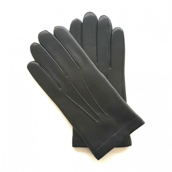 """Leather gloves of lamb brown """"HENRI""""."""