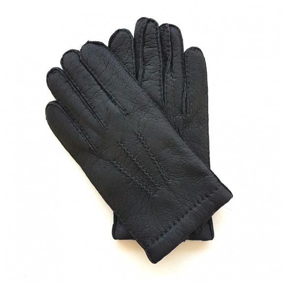 "Leather Gloves of pecary black ""PAUL""."