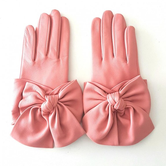 """Leather gloves of lamb blossom """"PALOMA."""