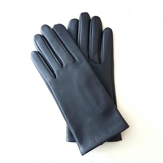 "Leather gloves of lamb metallic ""CAPUCINE""."