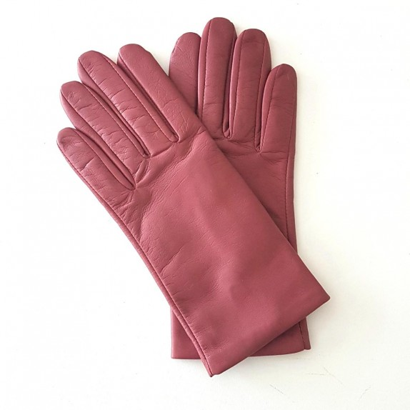 "Leather gloves of lamb antique rose ""CAPUCINE"""