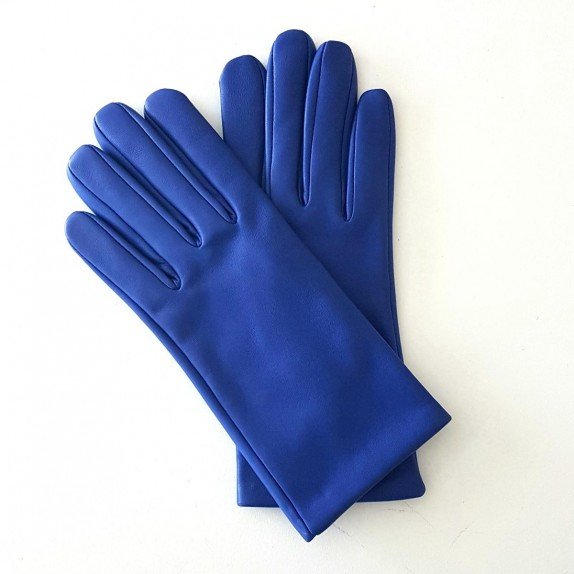 "Leather gloves of lamb gypsy blue ""CAPUCINE"""