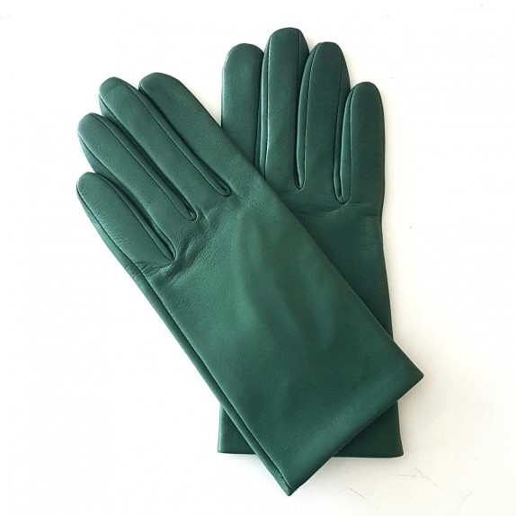 "Leather gloves of lamb verde ""CAPUCINE"""