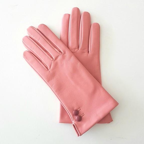 """Gants en cuir d'agneau blossom rose antique """"CLEMENTINE""""."""