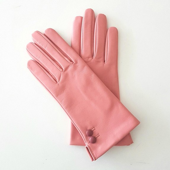 """Leather gloves of lamb blossom rose antique """"CLEMENTINE"""""""