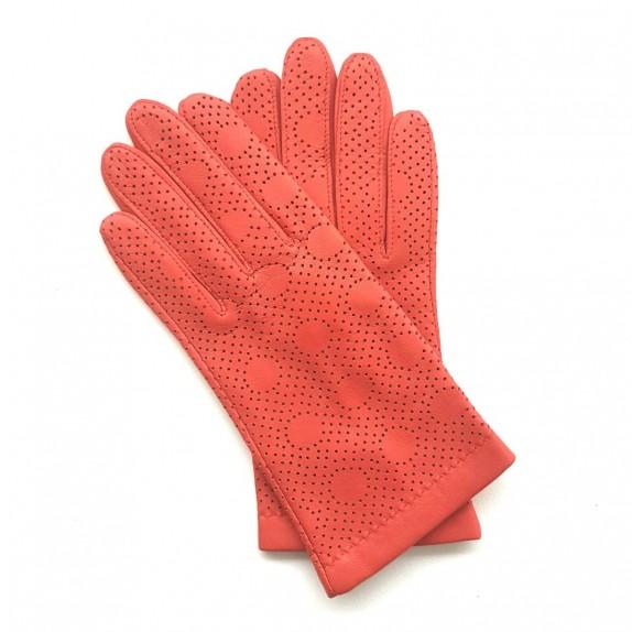 "Leather gloves of lamb nasturtium ""CARMELINA""."
