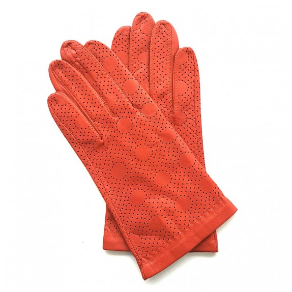"""Leather gloves of lamb chilly """"CARMELINA""""."""