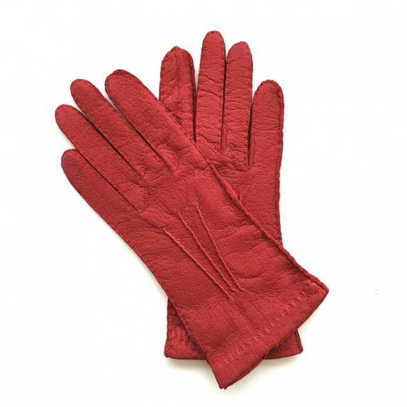 "Leather Gloves of lamb red ""PATT""."