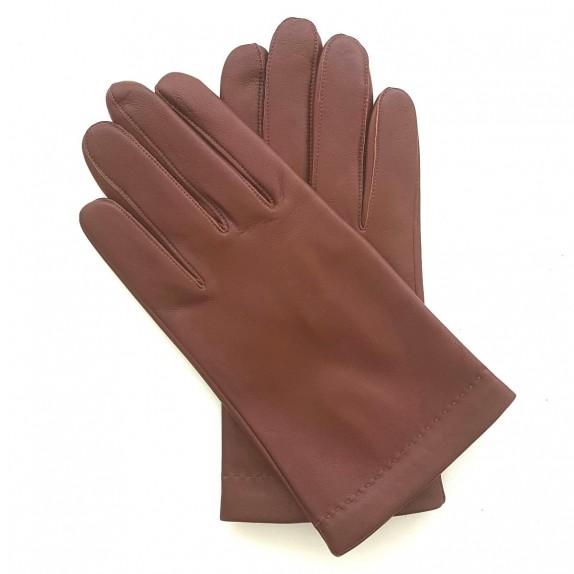 "Leather gloves in lamb english tan ""RAPHAËL""."
