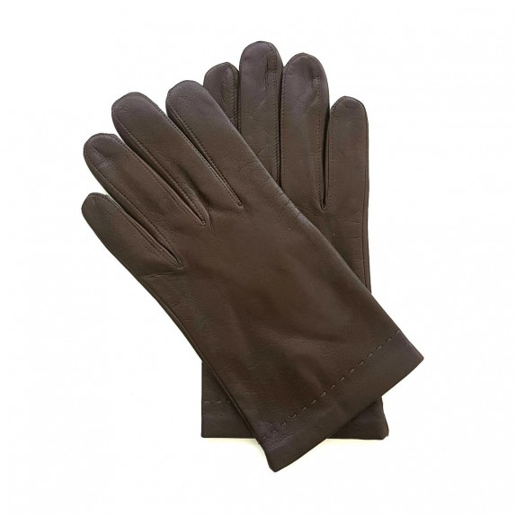 "Leather gloves of lamb dark chocolate ""RAPHAËL""."