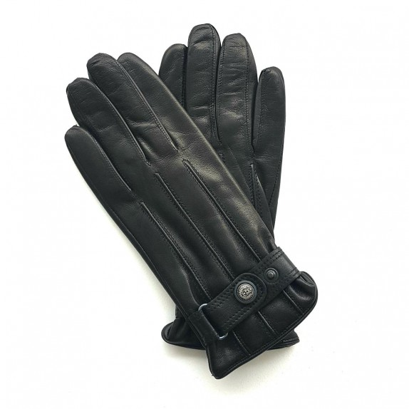 "Leather gloves of lamb black ""JULES"""