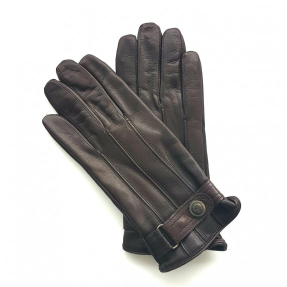 "Leather gloves of lamb brown ""JULES"""
