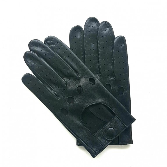 "Leather gloves of lamb black ""AYRTON""."