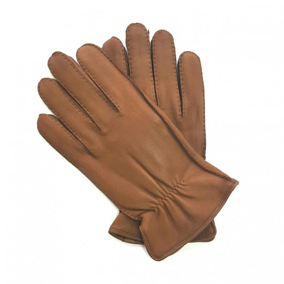 "Leather gloves of deer chocolate "" MARCUS """