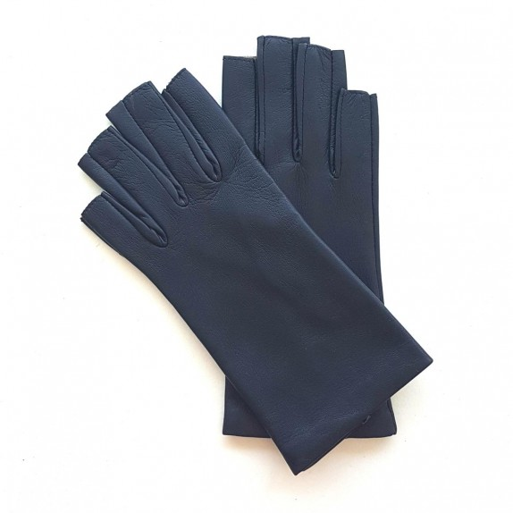 """Leather mittens of lamb damson """"JEANNE"""""""