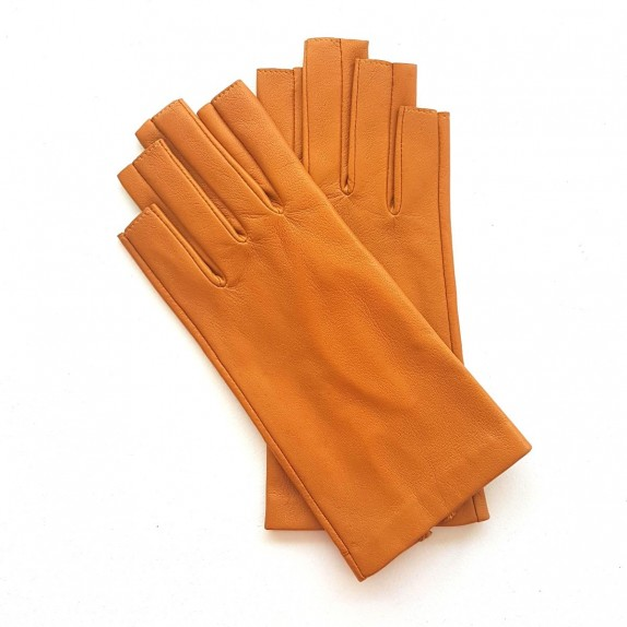 "Leather mittens of lamb maize ""JEANNE"""