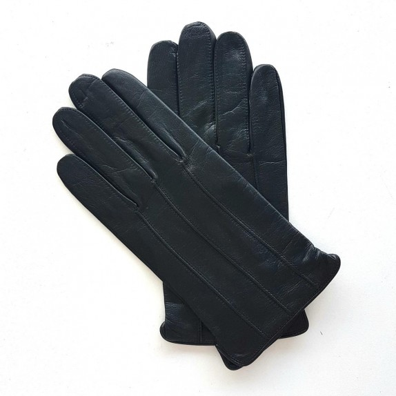 "Leather gloves lamb black ""GEORGES""."