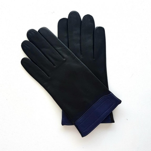 """Leather gloves of lamb sorbet """"STEEVE""""."""