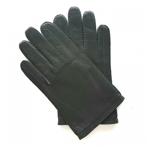 "Leather gloves of lamb khaki  ""BENJAMIN""."