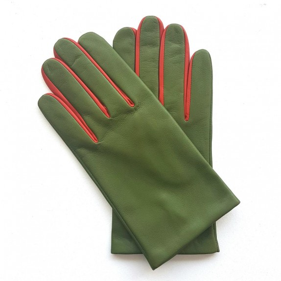 """Leather gloves of lamb clover and chilly """"TWIN H"""""""