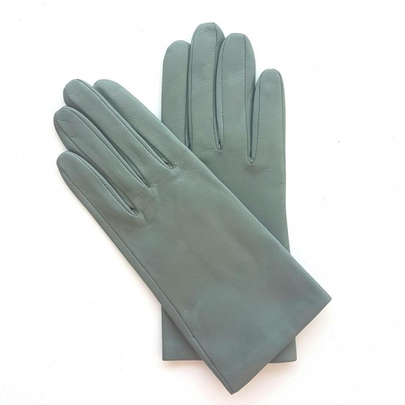 "Leather gloves of lamb celadon ""CAPUCINE"""