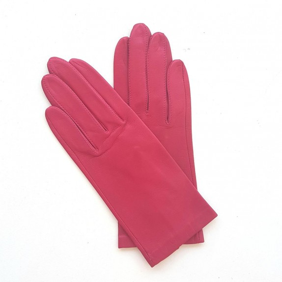 "Leather gloves of lamb orchid ""CAPUCINE"""