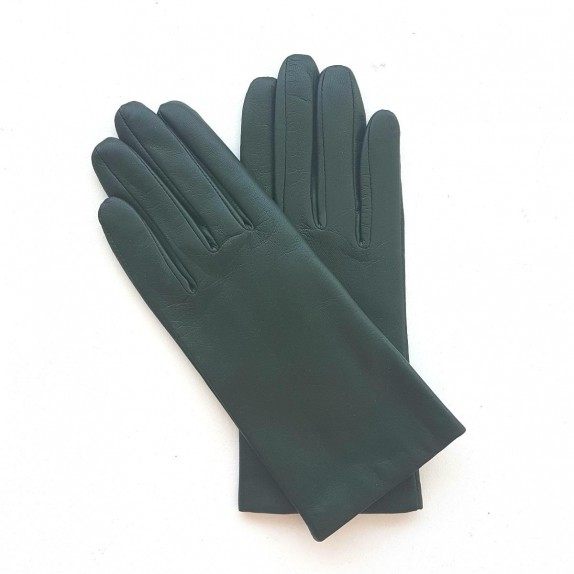 "Leather gloves of lamb evergreen ""CAPUCINE"""