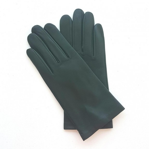 "Leather gloves of lamb evergreen ""COLOMBE"""