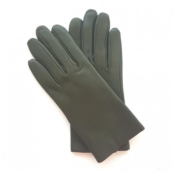"""Leather gloves of lamb fir """"CAPUCINE"""""""