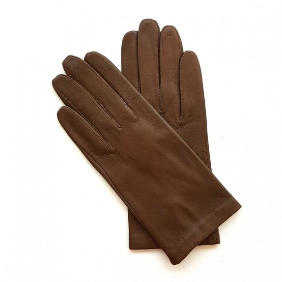 "Leather gloves of lamb pecan ""CAPUCINE"""