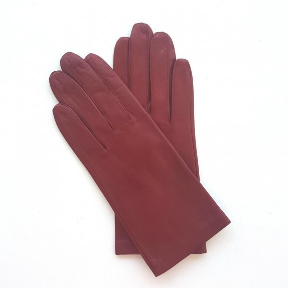 "Leather gloves of lamb red apple ""CAPUCINE""."