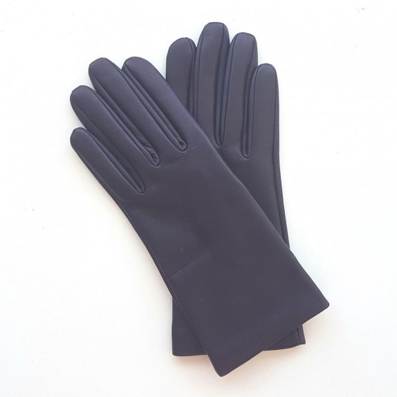 "Leather gloves of lamb purple ""CAPUCINE"""