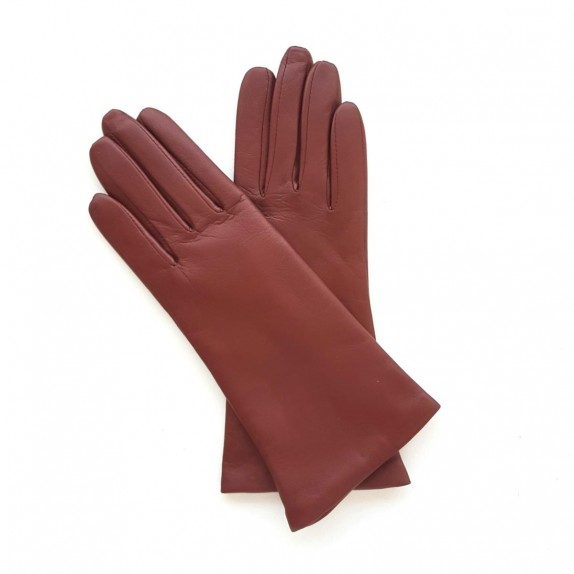 "Leather gloves of lamb english tan ""COLINE""."