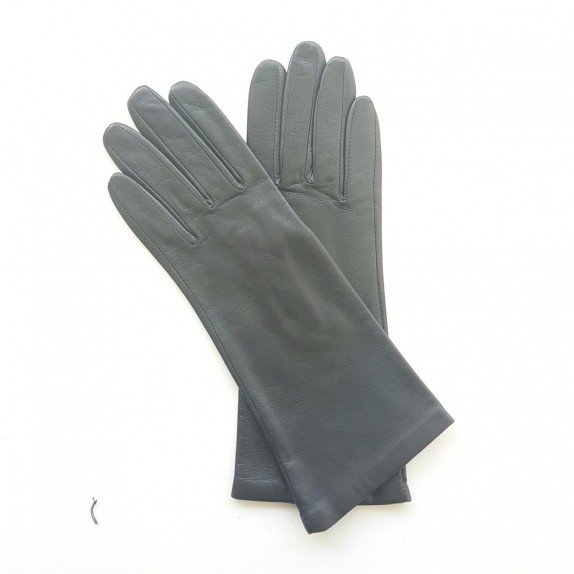 "Leather gloves of lamb dark grey ""COLINE""."