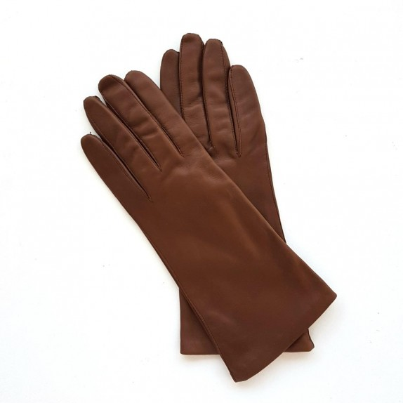 "Leather gloves of lamb hazelnut ""COLINE"""