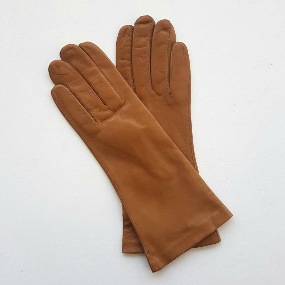 "Leather gloves  of lamb clear biscuit ""COLINE"""