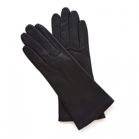 "Leather gloves of lamb ebony ""COLINE"""