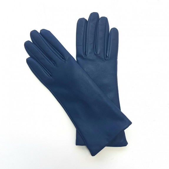 "Leather gloves of lamb indigo ""COLINE"""