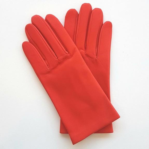"""Leather gloves of lamb capucine """"CAPUCINE""""."""