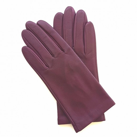 """Leather gloves of lamb cassis """"CAPUCINE""""."""