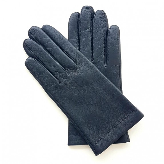 "Leather gloves of lamb navy ""RAPHAËL"""