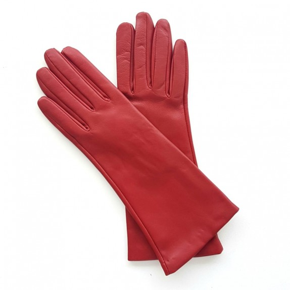 "Leather gloves of lamb red ""COLINE"""