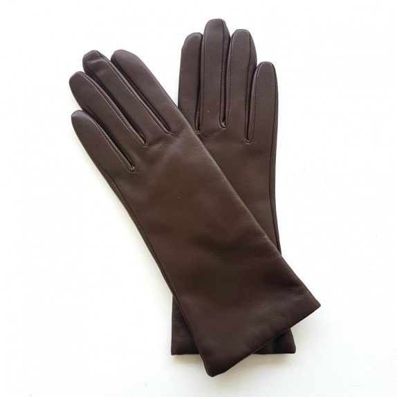 "Leather gloves of lamb brown ""COLINE"""