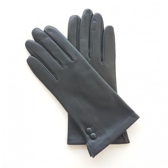 "Leather gloves of lamb navy ""CLEMENTINE"""