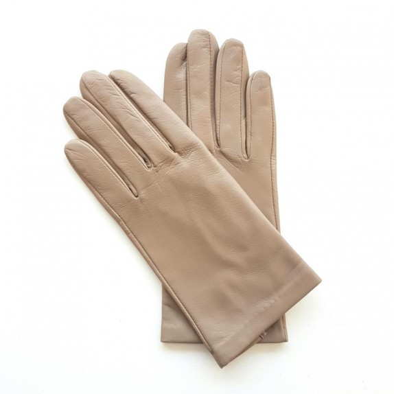 "Leather gloves of lamb putty ""CAPUCINE""."