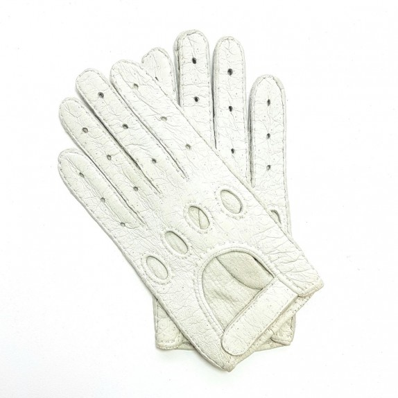 "Leather gloves of peccary white ""POMPEIA"""