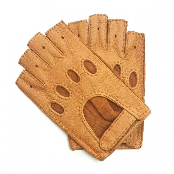 "Mitaines en cuir de pécari cork ""MATHEO""."